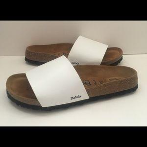Betula Birkenstock White Leather Sandals 40 N
